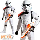 Super Deluxe Stormtrooper Boys Fancy Dress Star Wars Villain Kids Childs Costume