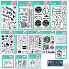 Avery Elle Clear Cling Stamps + CUTTING DIES Birthday Christmas Valentines Text