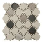 Crackled Glass, Stone, and Metal Mosaic Tile, Colours Collection CGM8103 Chrome