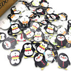 New 10/50/100/500pc Mix Penguin Wood Buttons Sewing Mix Lots 24*25mm W137