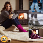 Heat Holders - Ladies / Womens Winter Warm 2.3 TOG Stripe Twist Thermal Socks