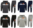 Ellesse Mens Hooded Fashion Fleece Full Tracksuit Top & Jogging Bottoms New