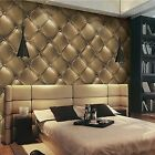 Removable Wallpaper Art Textured Vinyl Leather 3D Washable Living Room Bedroom