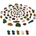 80 Climbing Holds in a Starter Set Rock Wall Hand Grips Stones Grab Hold