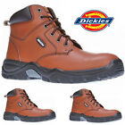 MENS DICKIES SAFETY LEATHER STEEL TOE CAP MIDSOLE BOOTS ANKLE WORK SHOES