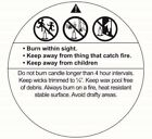 """2"""" Round Candle Warning Labels Candle Making Supplies  ***Free Shipping***"""