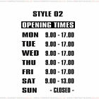 Opening Hours Times Shop Window Sign Style 02 Wall Vinyl Sticker Small Decal