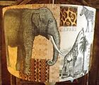 Shabby Chic Lamp Shade,lampshade African Safari Elephant Free Gift