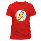 The Flash Unisex RED Distressed Logo T-Shirt (S & XL Available)