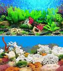 "24"" Double Sided Aquarium Background Backdrop Fish Tank Reptile Vivarium Marine"