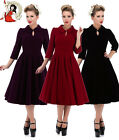 HEARTS and ROSES H&R LONDON 50's GLAMOROUS VELVET TEA DRESS