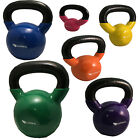 Vinyl Kettlebell Body Tone Fitness Strength Training Workout Gym Equipment