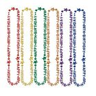 Happy 60th Birthday Beads 60 Birthday Party Necklace Choose Color