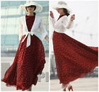 super fashion DOT PATTERN new type chiffon dress full-length 2 colors for choice