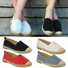 WOMENS LADIES ESPADRILLES FLAT CANVAS SUMMER PUMPS SUMMER CASUAL BEACH SHOES