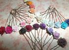 Rose Hair pins,Flowers,Grips,Festival,Bridesmaid,Prom,Wedding,MANY COLOURS