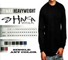 Shaka Wear Mens Max Heavyweight Long Sleeve T-shirt Any Color Basic Plain Tee image
