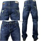 Mens Peviani jeans, hip hop g time is money star pants, stonewash straight urban