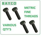 M8 X 1.00P X 40MM FINE PITCH HEXAGON BOLT HT HIGH TENSILE SETSCREW GRADE 8.8