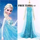 Frozen Elsa Adult Ladies Dress  all sizes Party Gown Fancy Dress blue ladies