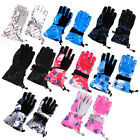 Winter Outdoor Snowboard Ski Snow Thermal Warm Windproof Full Finger Gloves Pair