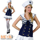 Sailor Girl Ladies Fancy Dress Womens Navy Uniform Costume Adults Outfit UK 6-24