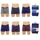 Tom Franks 6 Pairs Men's Cotton Stretch  Boxer Shorts Trunks A Front Keyhole