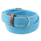 Solid Woman Man Braided Stretch Web Casual Golf Buckle Waist Belt Waistband PICK