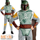Boba Fett Mens Fancy Dress Star Wars Film Movie Villain Adult Costume Outfit New