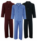 Mens Woven Pyjamas Poly/ Cotton Sizes M L XL 2XL Plain Colours Long Sleeve