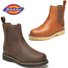 MENS DICKIES TRINITY NON SAFETY CHELSEA DEALER ANKLE WORK SLIP ON BOOTS SHOES