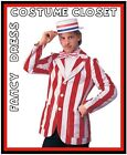 Roaring 1920's 20's Blazer Regatta Boat Race Men's Fancy Dress Jacket Costume