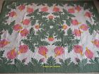 Hawaiian Quilt BEDSPREAD/WALL HANGING 100% hand quilted/appliqued HANDMADE 80x60