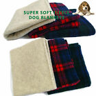 Dog Pet  Blankets & Throws  3 Sizes On Sofas in Cars warmth and comfort Tartan