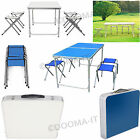 PORTABLE FOLDING TABLE AND 4 CHAIR SET FOR CAMPING PARTY PICNIC GARDEN OUTDOOR