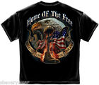 MILITARY T SHIRT MAKE AMERICA GREAT AMERICAN FLAG EAGLE USA S-3XL MENS BLACK  image