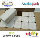 Luxury White 2Ply C-Fold Multi Fold Paper Hand Towels x 2400 (1 - 5 Cases)