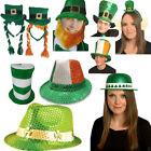 New Unisex Green St Patrick Day Irish Bowler Hat  Valour Sequin Triblly Hats