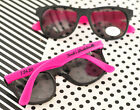 Personalized Sunglasses Pink Black Wht Sweet 16 Birthday Quinceanera Party Favor