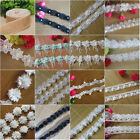 1 yard Vintage Pearl Lace Edge Trim Ribbon Embroidered Applique DIY Sewing Craft