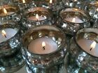 Silver Mercury Glass Pumpkin Tea Light Holders Vintage Wedding Table Decoration