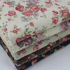 Shabby Chic Roses Vintage Style Japanese Cotton Linen Fabric per metre