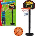 KIDS FREE STANDING BASKETBALL NET HOOP BACKBOARD &BALL PLAYSET ACTIVITY GAME SET
