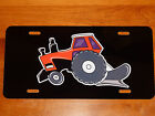 ALLIS CHALMERS w/ plow AC Tractor LICENSE PLATE on BLACK or WHITE Aluminum Plate