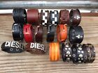 Punk Genuine Leather Men Womens Wrap Bracelet Wristband Bangle Cuff