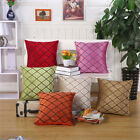 "17"" Square Polyester Grillwork Geometric Twill Sofa Pillow Case Cushion Cover"