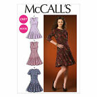 McCalls 7015 Petite Fit and Flare Dress 3/4 Short Sleeves Sewing Pattern M7015