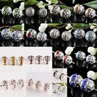 Wholesale Crystal Austrian Hollow Out Loose Ball Bead Jewelry Silver Findings