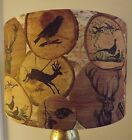 Stag Lamp shade Shabby Chic Rustic Hunting vintage cottage  Christmas  Free Gift