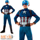 Deluxe Captain America Civil War Boys Fancy Dress Superhero Kids Marvel Costume